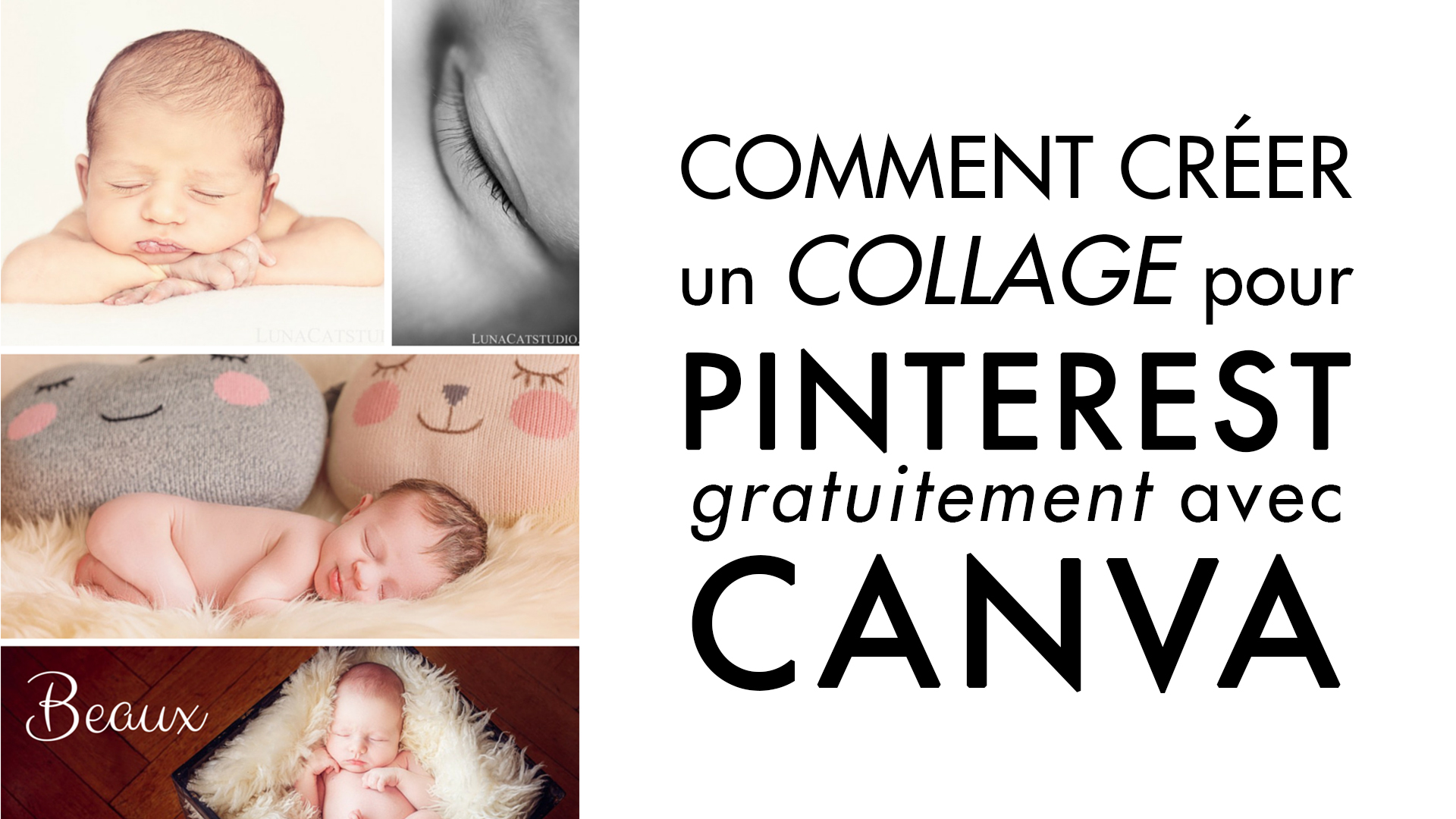 comment cr u00e9er un collage photo pour pinterest avec canva   - lunacat studio