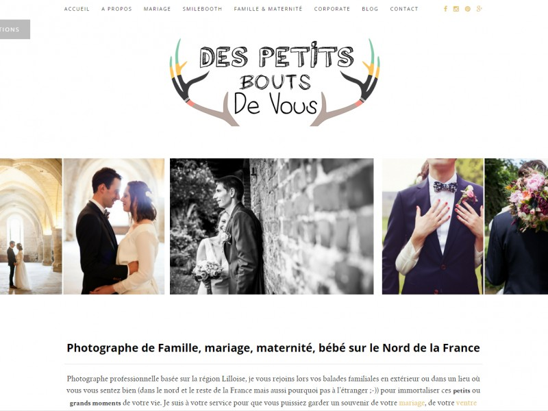 création site web photographe wordpress